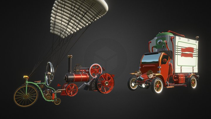 Steampunk vehicles_Homework5 3D Model