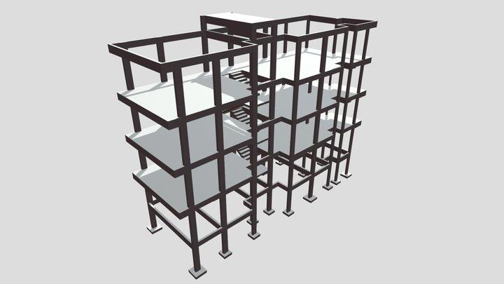 Projeto Estrutural - Edificação AMPI 3D Model