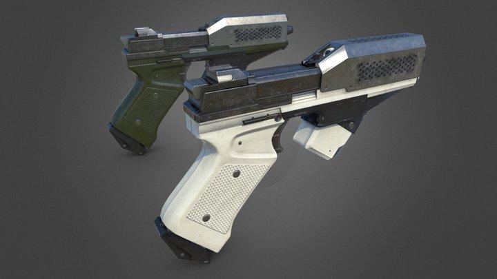 Sci-fi Guns 3D Model
