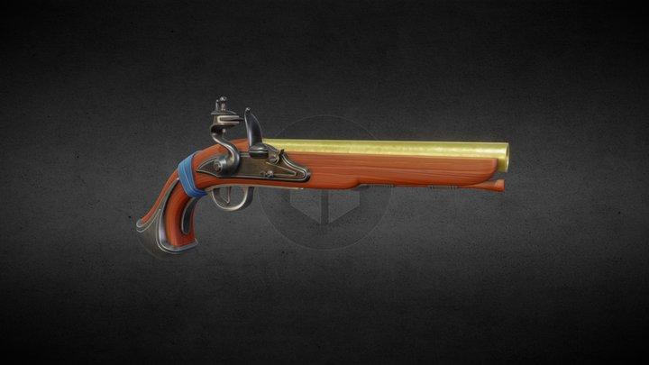Stylized Flintlock Pistol 02 3D Model