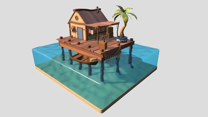 Sea shack 3D Model