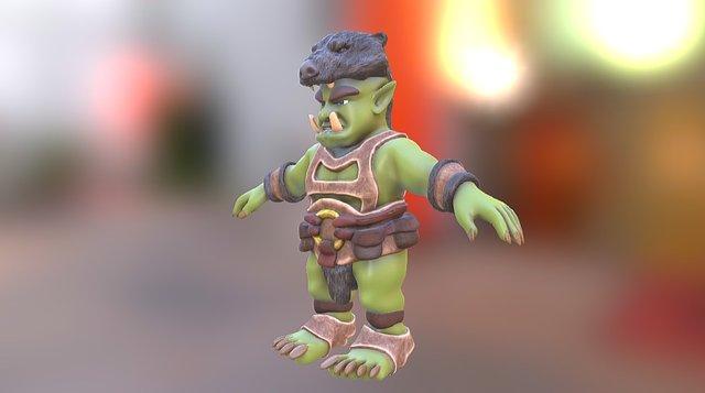 Orc Slinger 3D Model