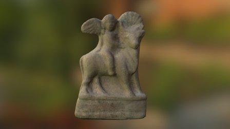 Terracotta Figurine of Eros riding a bull 3D Model