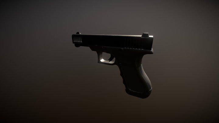 Glock Low-poly 3D Model