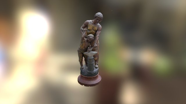 blacksmith statue 3D Model