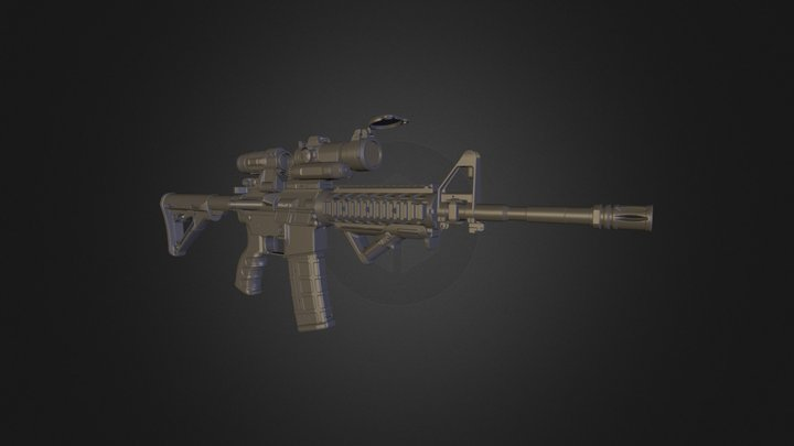 M4_Highpoly 3D Model