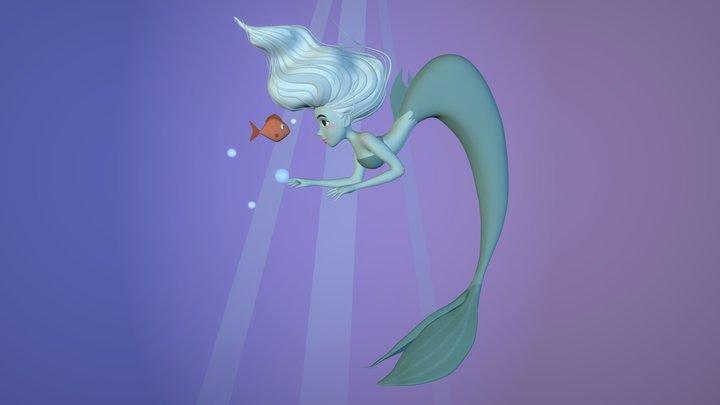 Mermaid & Friend :) 3D Model
