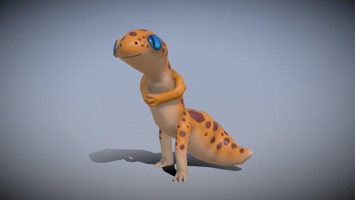 Leopard Hunter 3D Model