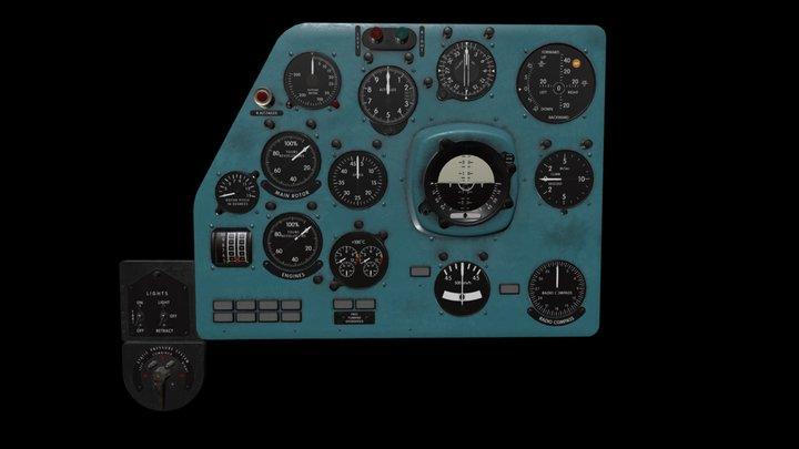 Mi-8MT Mi-17MT Left Panels Board English 3D Model