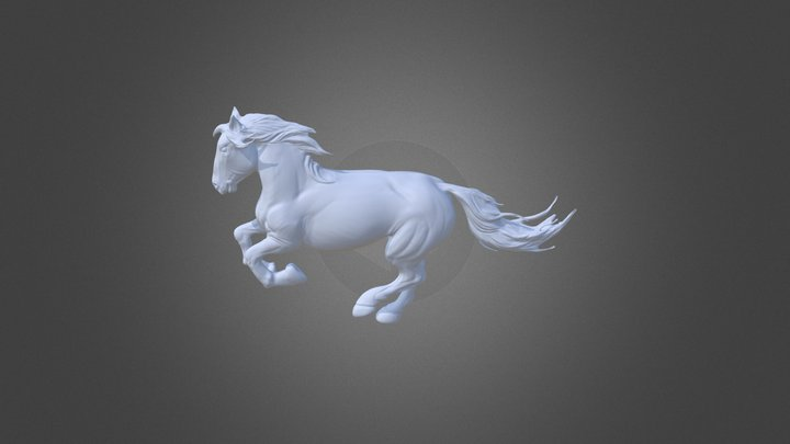 Galloping Equine 3D Model