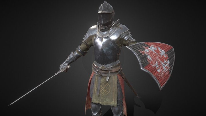 Knight model in medieval style 3D Model