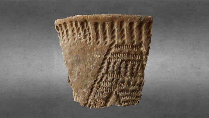 Neolithic rimsherd from 3.400 BC 3D Model