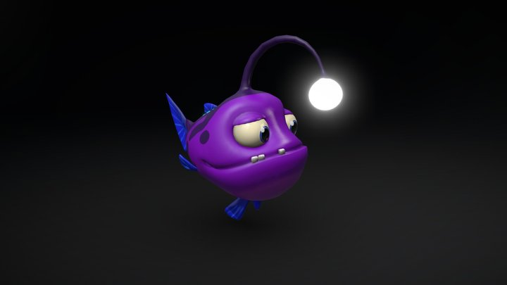 Cartoon Anglerfish 3D Model