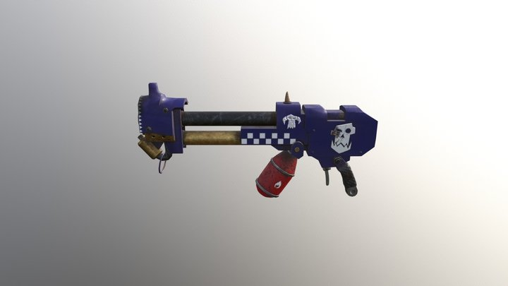 40k Looted Flamer - Deff Skullz Skin 3D Model