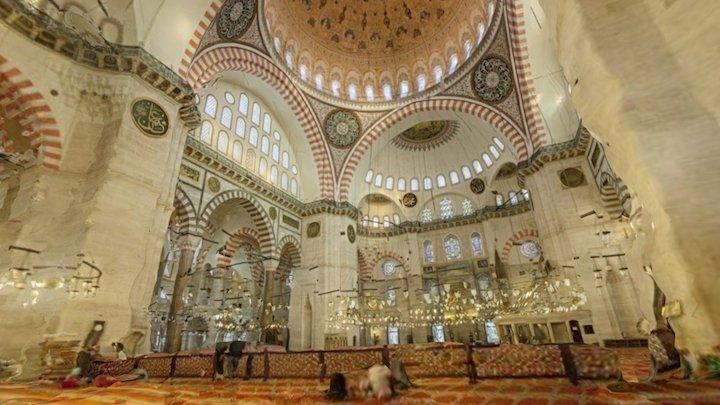 Suleymaniye mosque / camii - Istanbul, Turkey 3D Model