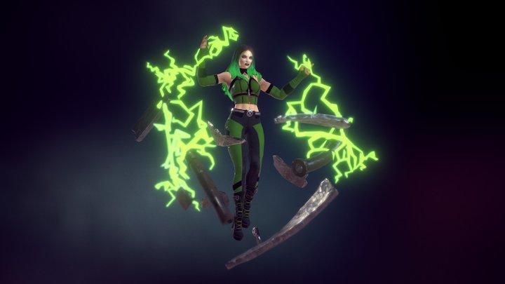Marvel Character Polaris / Lorna Dane 3D Model
