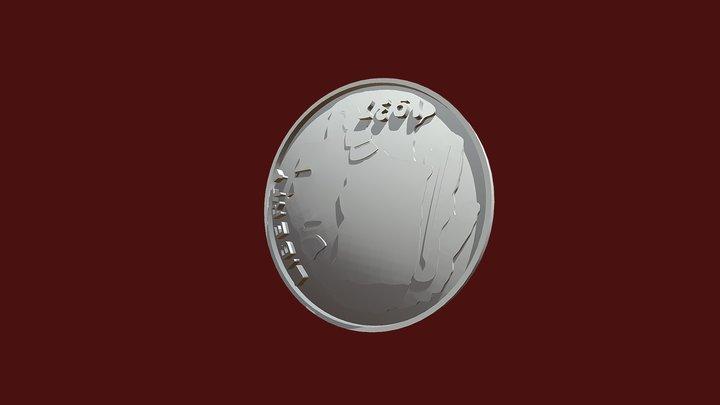 Liberty1937-half Dollar Coin 3D Model