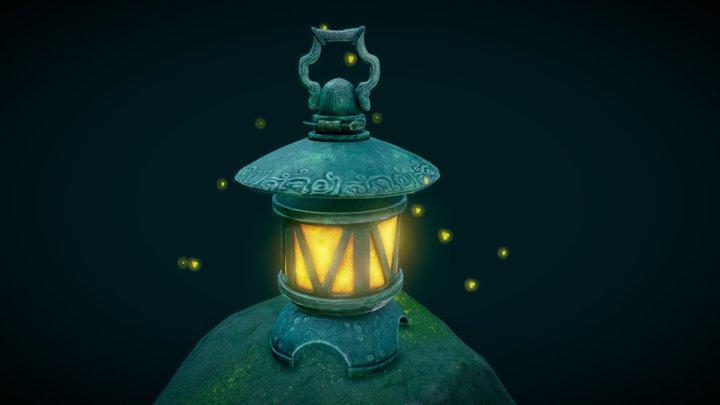 Ancient Lamp 3D Model