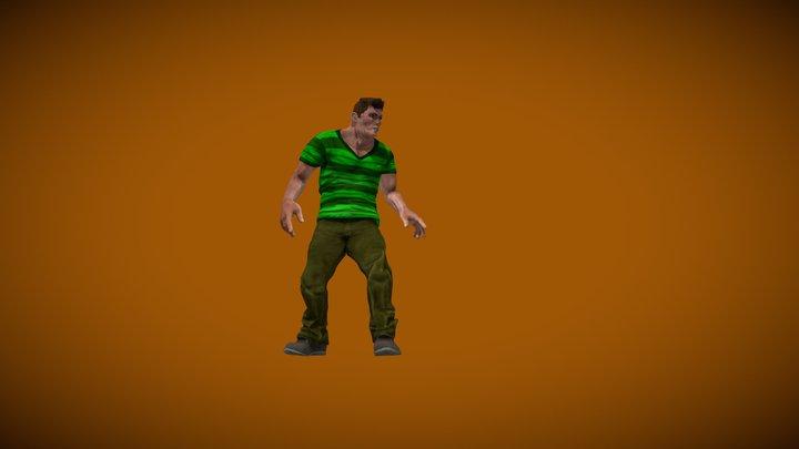 Homem Areia Idle. 3D Model