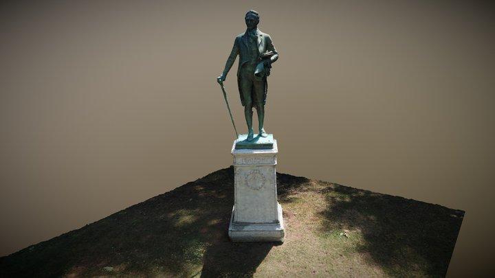 Alexander Hamilton Statue 3D Model