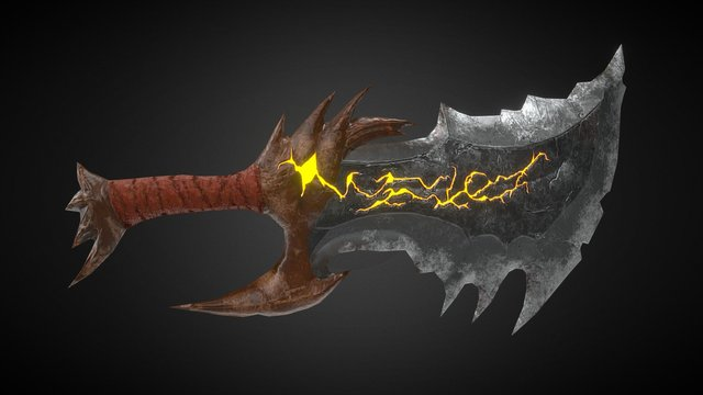 Blade of Chaos 3D Model