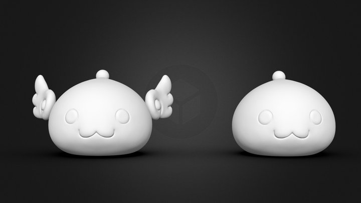 Angeling and Poring Fan ART STL for 3DPrint 3D Model