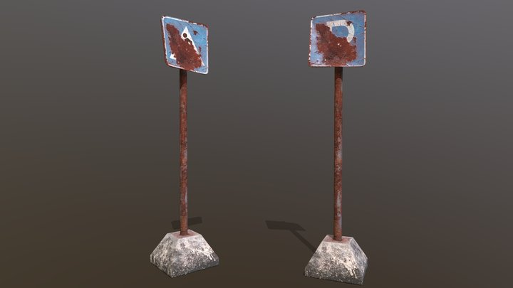 DP #2 HW 20 [Roadsigns] 3D Model