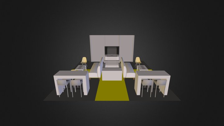 Booth 3D Model