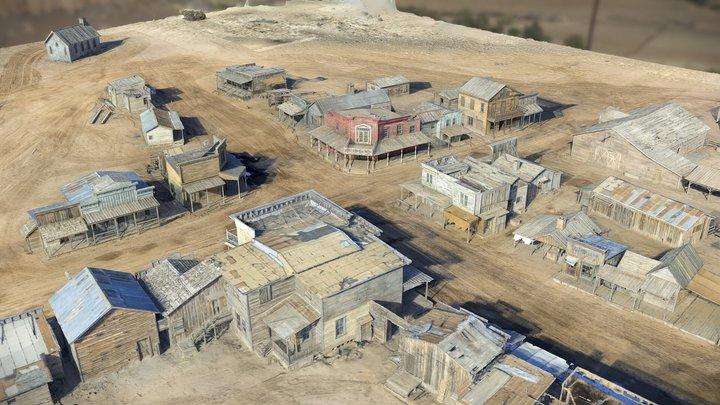 Bonanza Creek Movie Town Set 3D Model