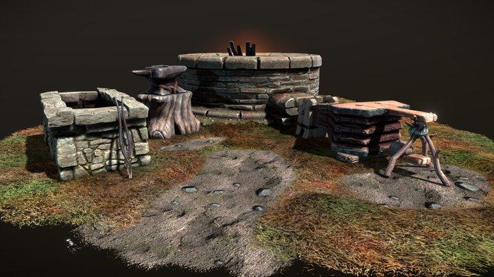 TES: Skyblivion - Forge Set 3D Model