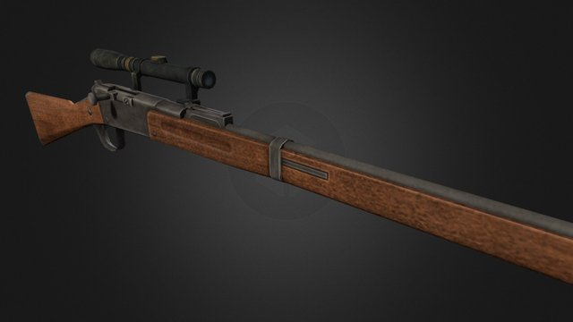 Lebel Model 1886 rifle 3D Model