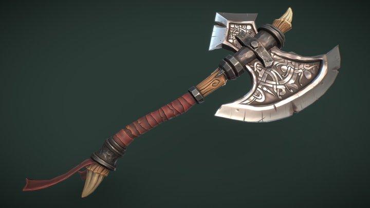 Viking Axe Game Ready Model 3D Model