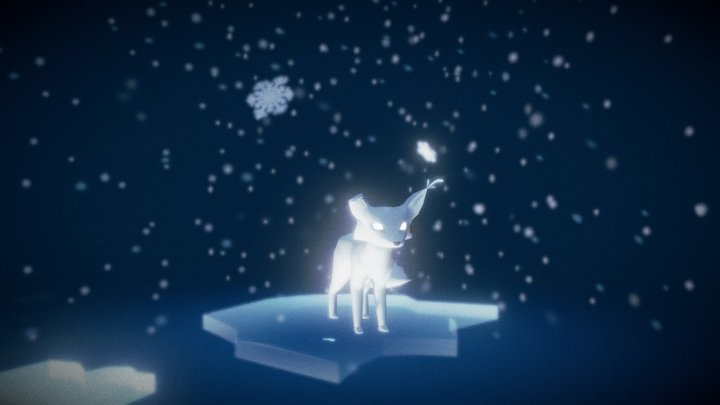 Snow Fox - Winter 3D Model