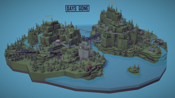 Days Gone 3D Model