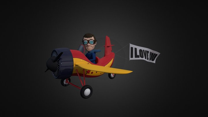 Valentine`s Day Pilot 3D Model
