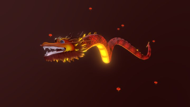 Chinese Dragon Lantern 3D Model