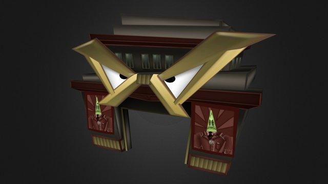 Bossbot Field Office Building Facade 3D Model