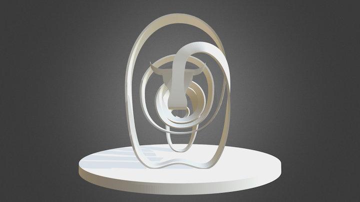 Bull on Platform 3D Model