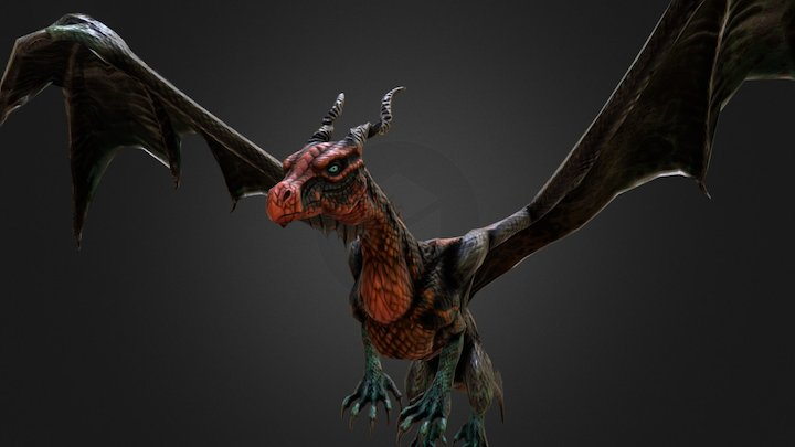 Warlock Dragon 3D Model