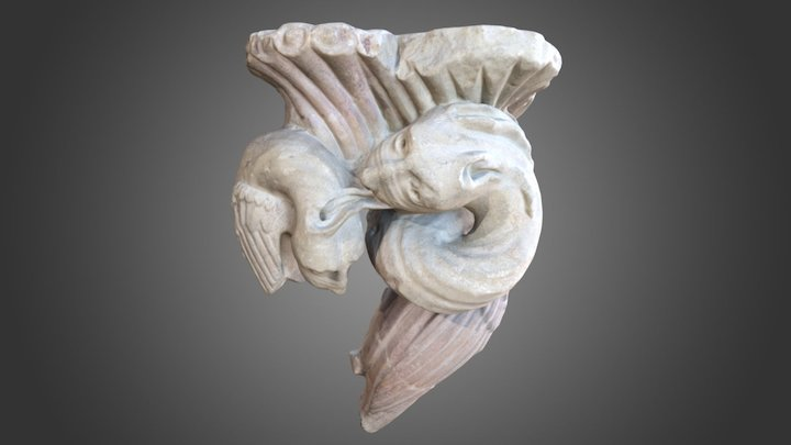 Intertwined beasts, 13th century 3D Model