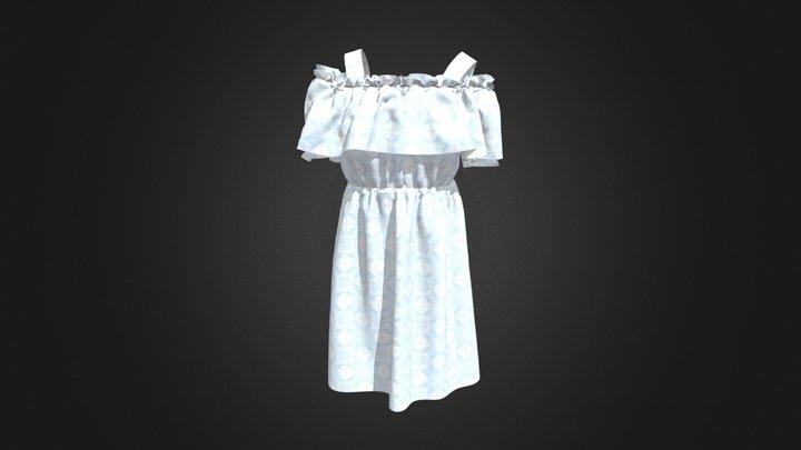 Off shoulder dress 3D Model