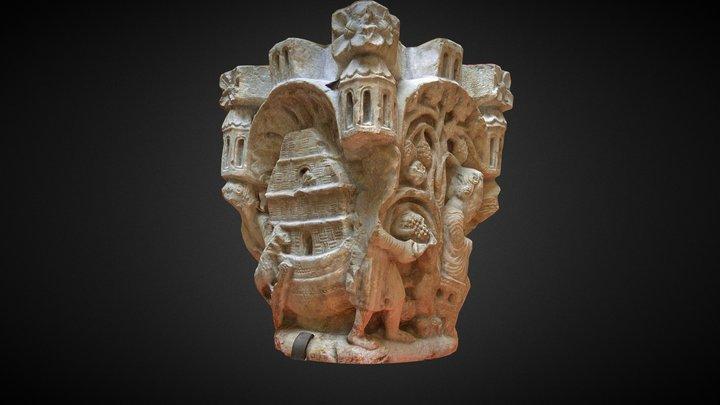 Capitel de Noé - Sant Pere de Rodes 3D Model
