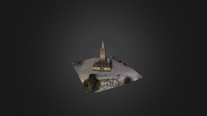 Bismarckturm 3D Starnberger See 3D Model