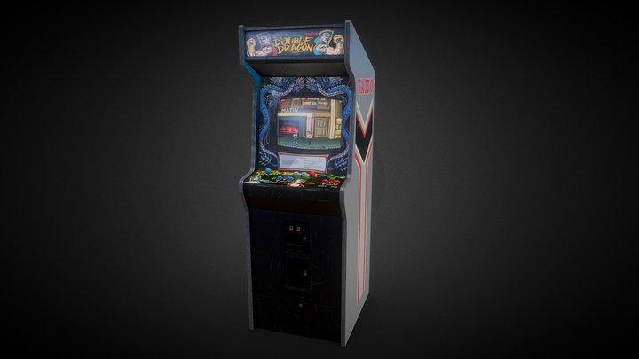 Double Dragon Arcade Machine 3D Model