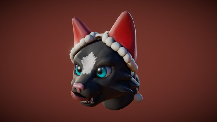 3December2018 Day8 - Cat Earmuffs 3D Model