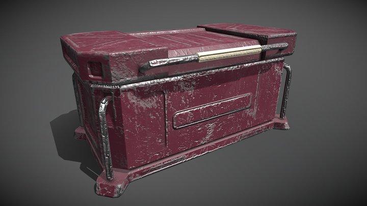 Futuristic Crate - Animated 3D Model