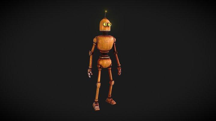 Cartoon PBR Robot 3D Model