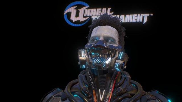 Unreal Tournament UGC: Mengu Mask for Necris 3D Model