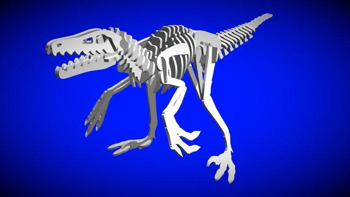 Velociraptor Complete 3D Model