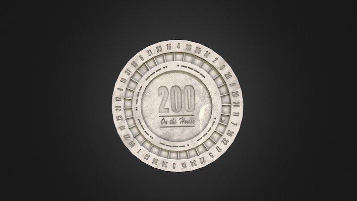 FNV - Platinum Chip 3D Model